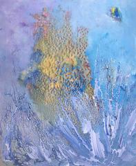 """ISIDRO CAHUE - ORIGINAL ACRILYC CANVAS - """" MAR I PEDRA"""" 2000"""
