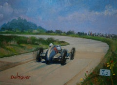 "ALEX BALAGUER - ORIGINAL- ""Hermann Lang, Nürburgring 1937, Mercedes-Benz W125"""
