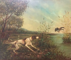 "JUAN LARA - ORIGINAL OIL - ""DUCK HUNT"" 1970"