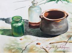 "ALMAZAN MIQUEL - PASTEL PAPER ORIGINAL - "" NO TITLE "" 1995"