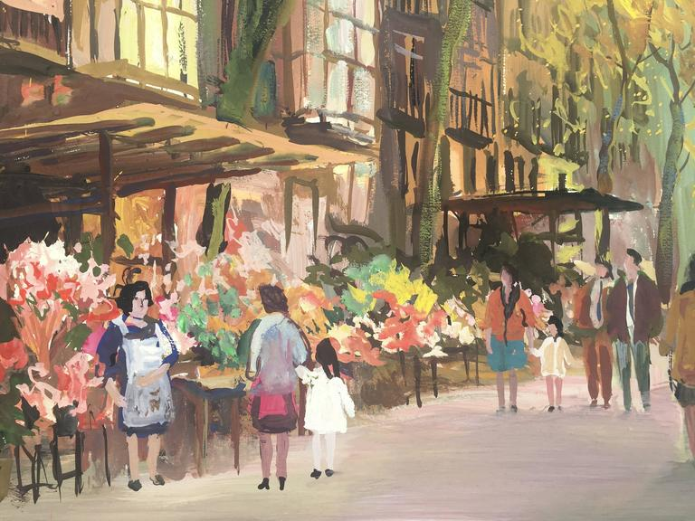BARCELONA - Painting by Agustin Rio