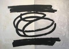 """"""" Lo que es """" original abstract acrylic canvas painting"""