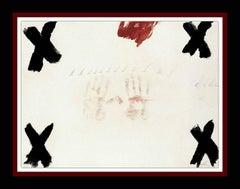 """ANTONI TAPIES - ENGRAVING- """"DUES MANS"""" 1976"""