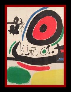 """JOAN MIRO - LITHOGRAPHY-  """" EXPOSICION EN OSAKA , JAPON """""""
