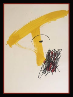 """OPPORTUNITY ¡¡¡ ANTONI TAPIES-LITHOGRAPHY- ABSTRACT- """"MESTRES DE CATALUNYA"""" 1974"""