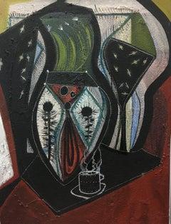 "CALDENTEY - ORIGINAL MIXED MEDIA - "" Black flowers"" 2012"