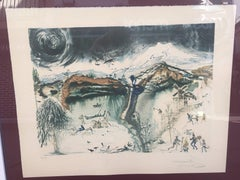 "OCASSION ¡¡¡ SALVADOR DALI -ORIGINAL LITHOGRAPHY-SURREALISM ""Four Seasons"" 1971"
