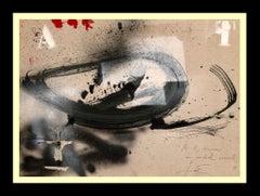 """ANTONI TAPIES -ORIGINAL ACRLYLIC - """"A Y ROJO """""""