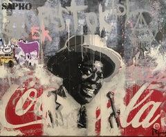 """LIKE JAZZ"" original street art mixed media painting"