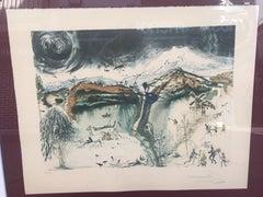 """SALVADOR DALI - ORIGINAL LITHOGRAPHY- SURREALISM - """"Four Seasons"""" 1971"""