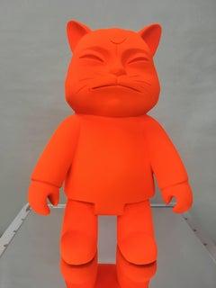 "HIRO ANDO.- Original  Sculpture  ""ROBOCAT MONOLOGY"""