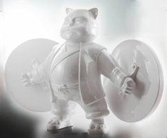 "HIRO ANDO - ORIGINAL SERIES RESIN SCULPTURES - ""WARROIR CAT"" 2011"