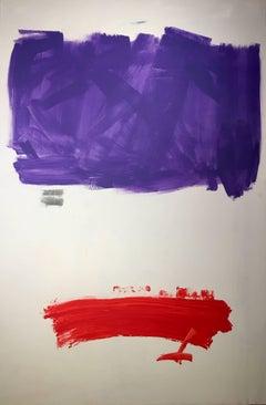 """RUZ- Original Oil canvas-vertical abstract- """"Composition 4"""""""