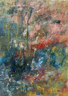 inside- original abstract paper acrylic painting