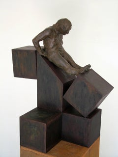 """ DECONSTRUCCION IV "" Amancio- Original sculture bronze Iron- 2008"