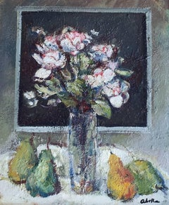 """NATURA MORTE"" 1975- Abella- Original-Oil canvas- still life"