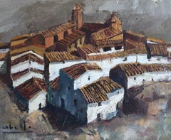 OLD TOWN- Abella-Original-Wood oil paint-
