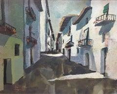 Village-Abella-Original- Wood Oil Paint-Figurative-2005