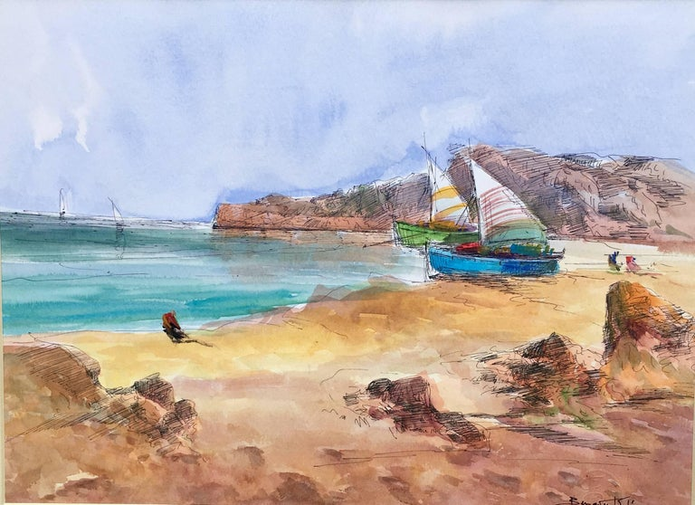 Benavente Solis Figurative Painting - Beach. sea