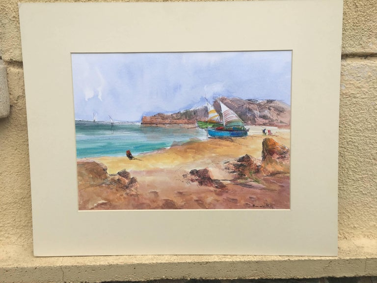 Beach. sea - Painting by Benavente Solis
