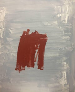 original abstract. red on gray