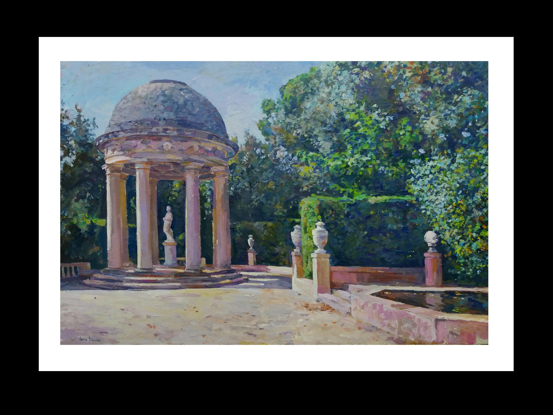 """ BARCELONA"" realist original acrylic canvas"