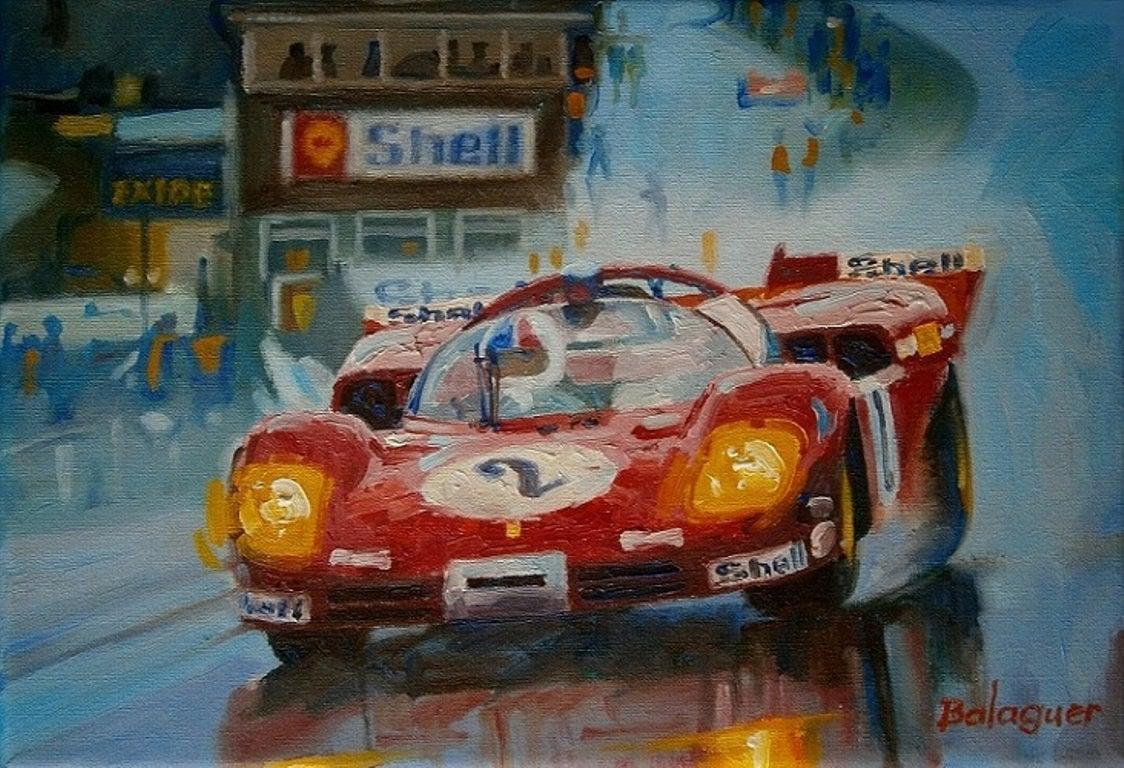 """Brands Hatch 1970"" original canvas acrylic painting"