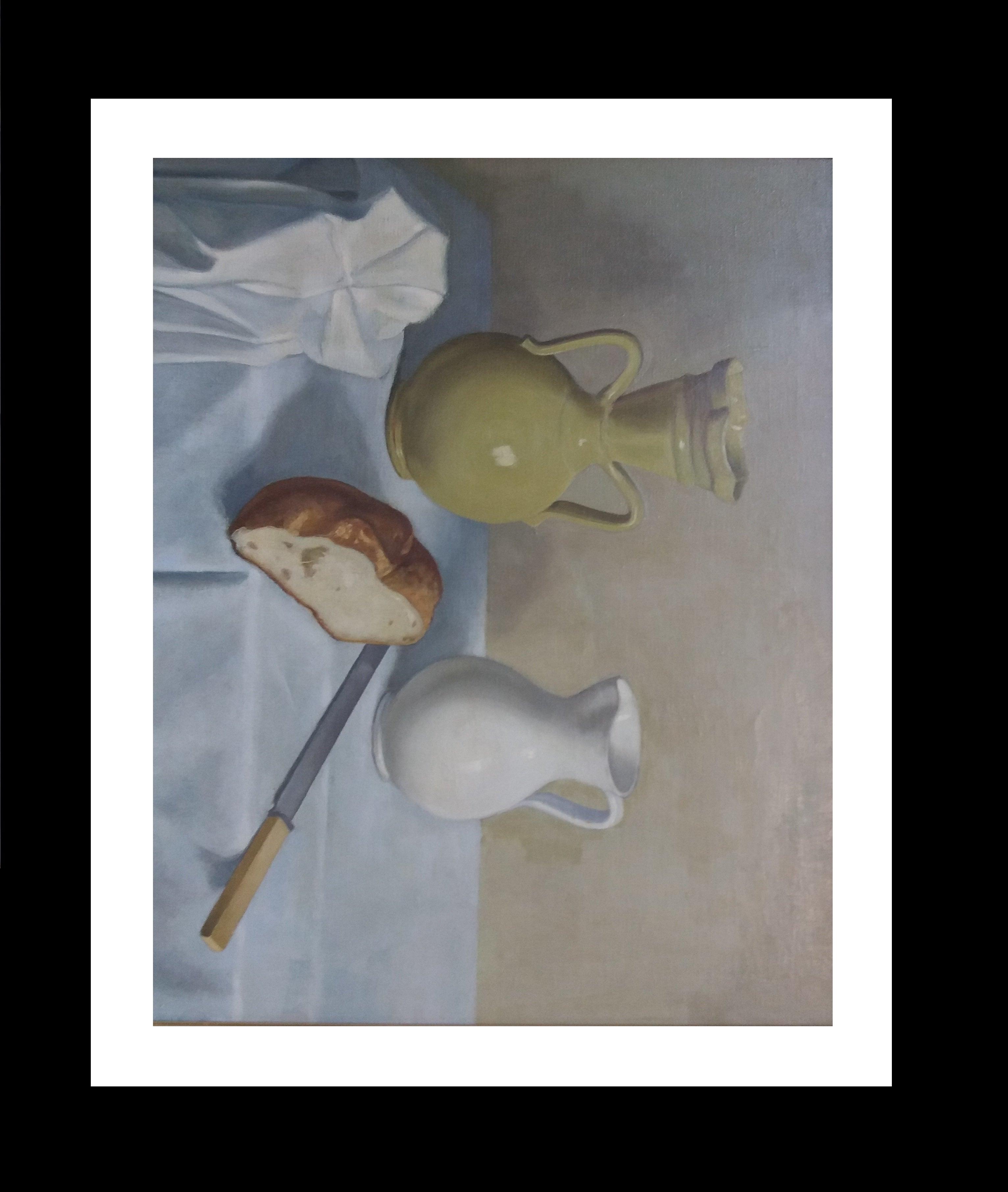 . BREAD. JARS  original still life  acrylic painting