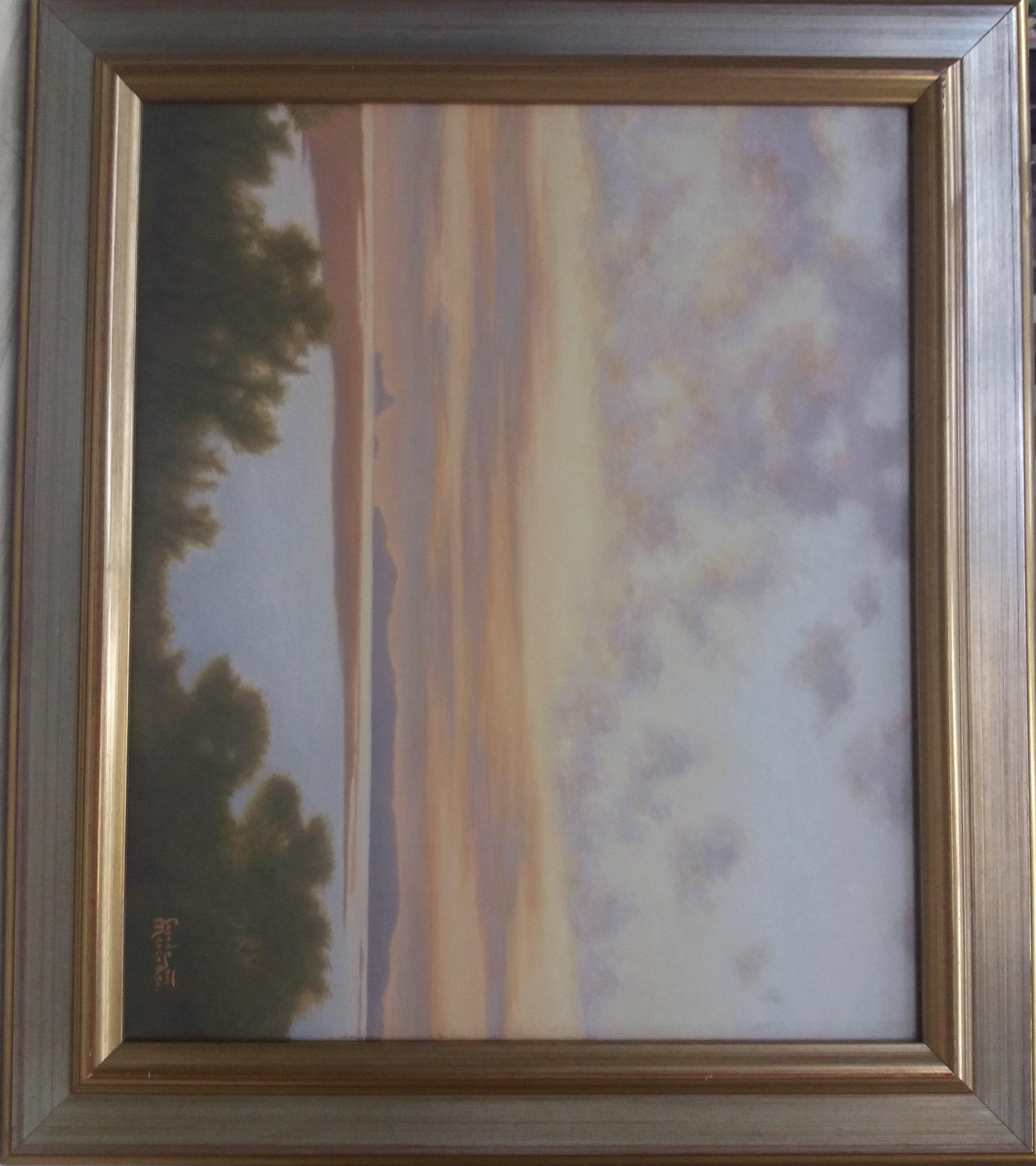 LAKE original acrylic painting
