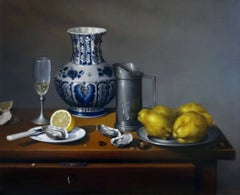 Huîtres, Coings et Pot Delft
