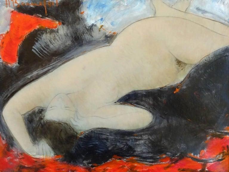 Alain Bonnefoit Nude Painting - Glamour