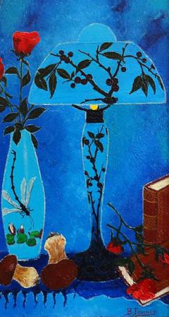 Lecture Sous la Lampe Prunellier (Under the Blackthorn Reading Lamp)