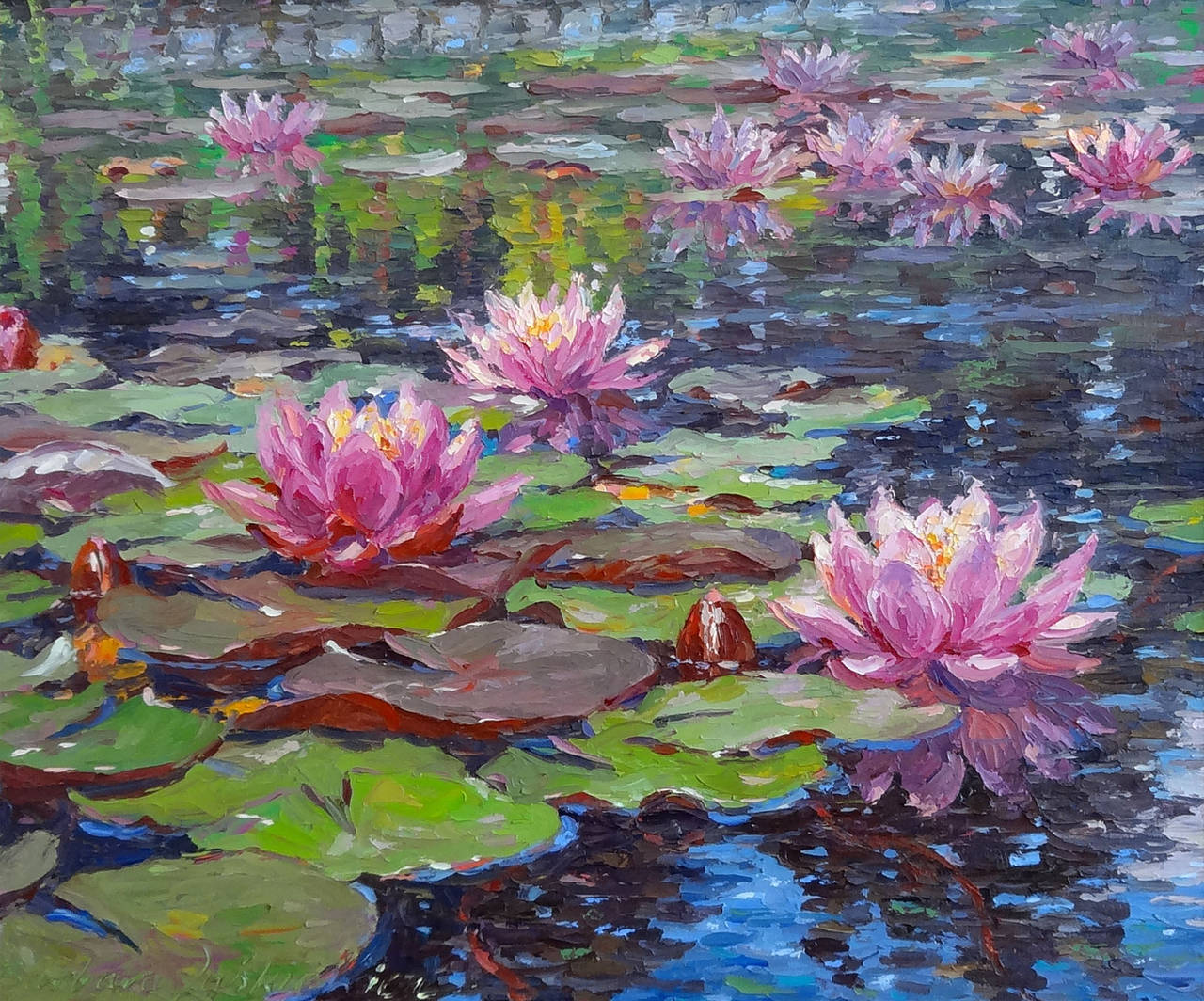 Barbara Jaskiewicz - Water Lilies, Painting For Sale at ...