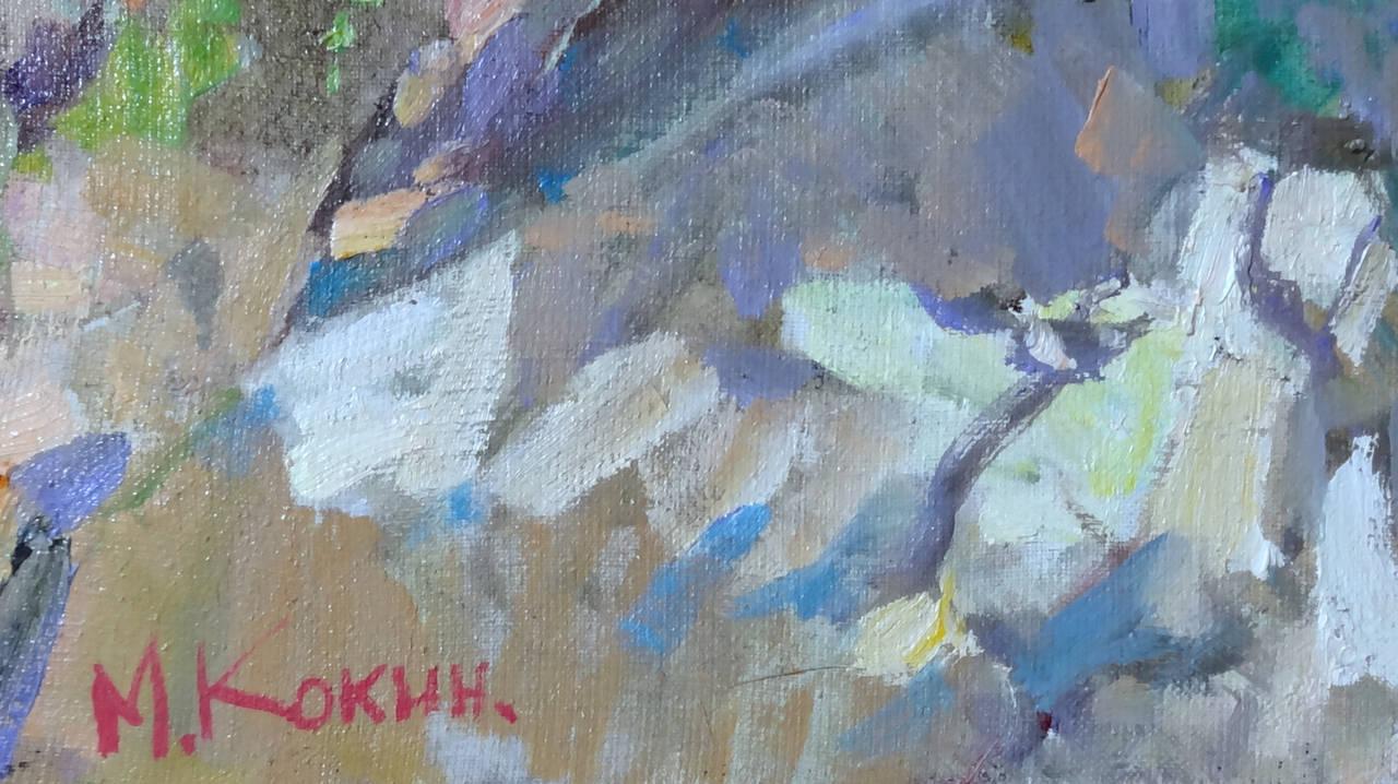 The Strawberry Basket (El Cesto de Fresas) - Impressionist Painting by Mikhail Kokin