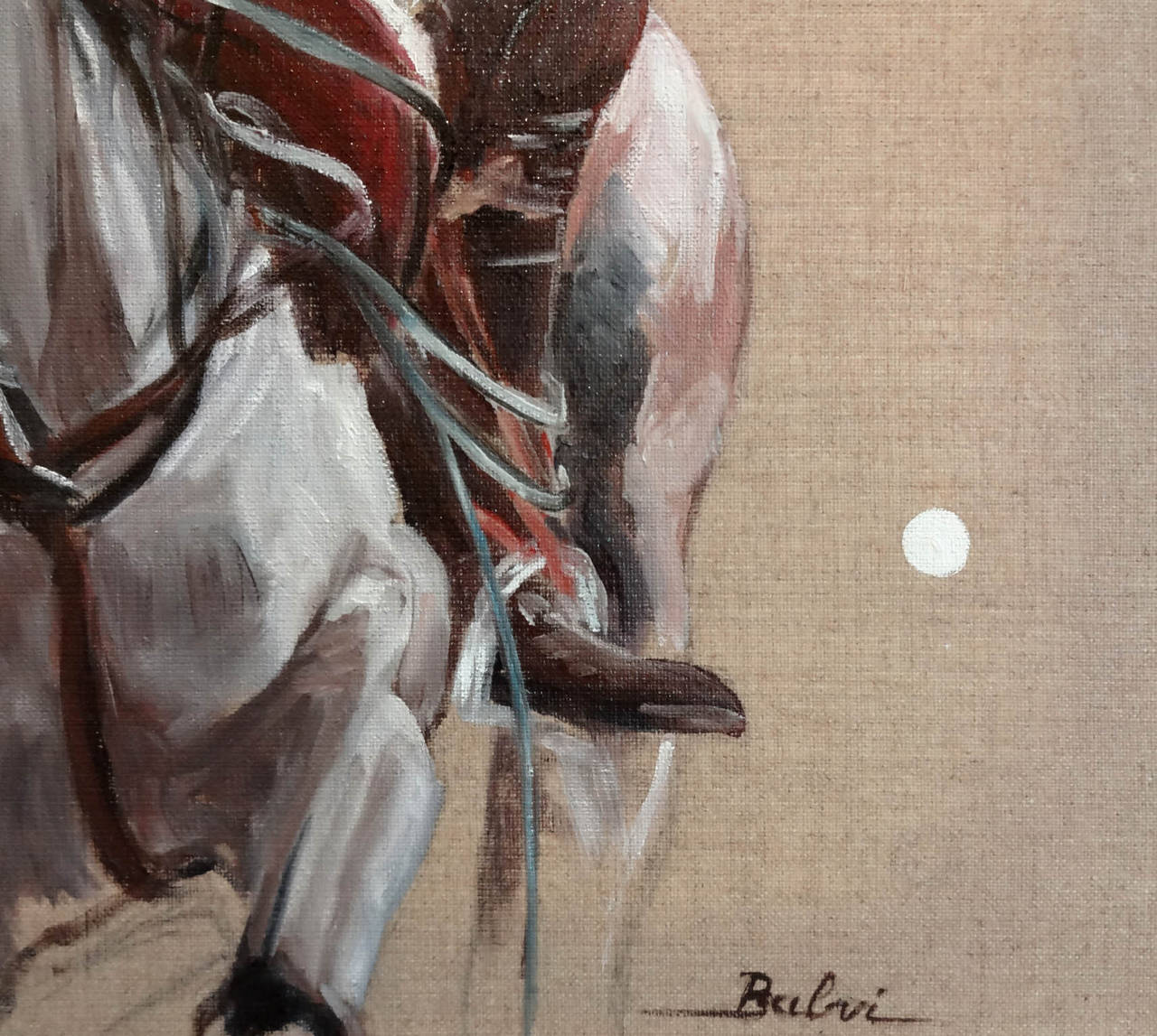 Le Polo Blanc - Painting by Simone Balvi
