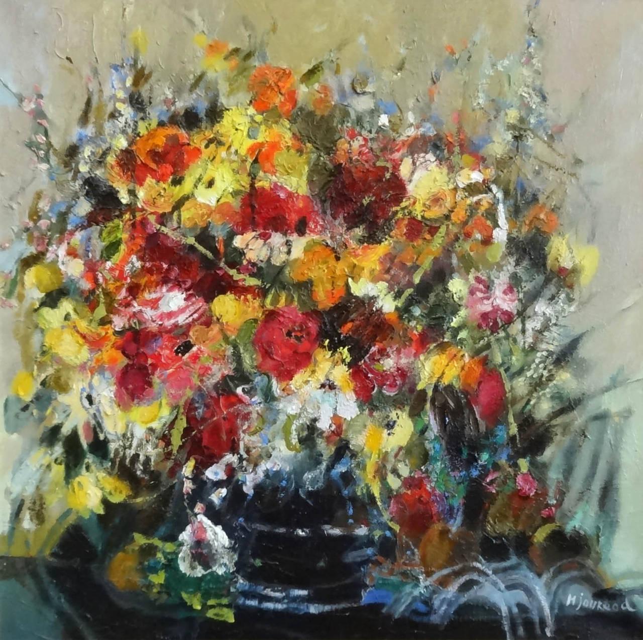 monique journod bouquet d 39 anniversaire painting for sale at 1stdibs. Black Bedroom Furniture Sets. Home Design Ideas