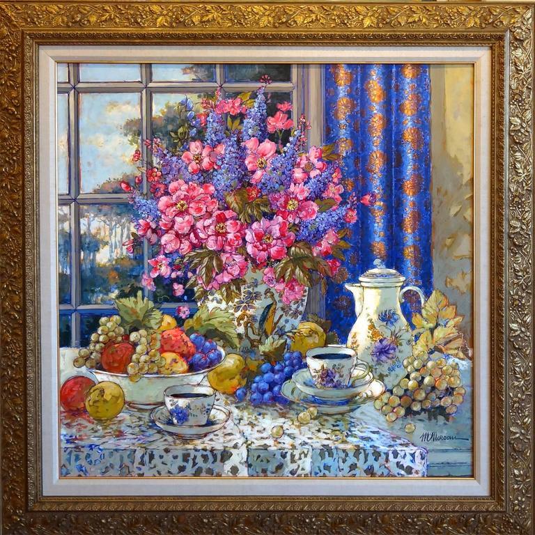 michel moreau the blue curtains les rideaux bleus. Black Bedroom Furniture Sets. Home Design Ideas