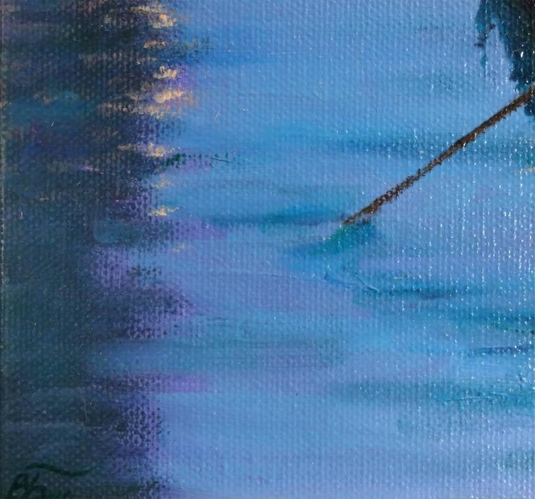 Moonlight in Venice - Realist Painting by Victoria Bondarenko