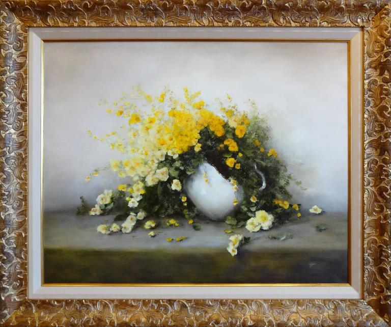 Friendship (Yellow Flowers) - Painting by Judith Levin