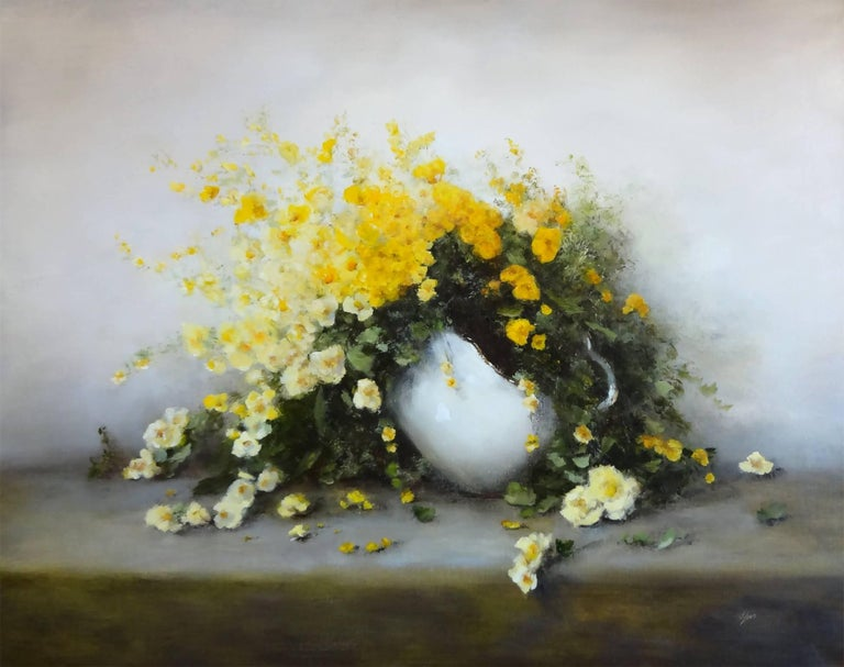Judith Levin Still-Life Painting - Friendship (Yellow Flowers)