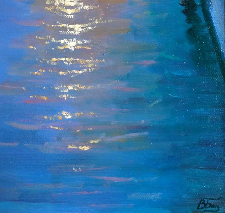 Venice Evening - Realist Painting by Victoria Bondarenko