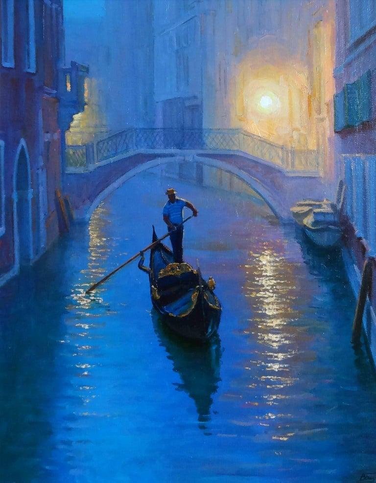 Victoria Bondarenko Landscape Painting - Venice Evening