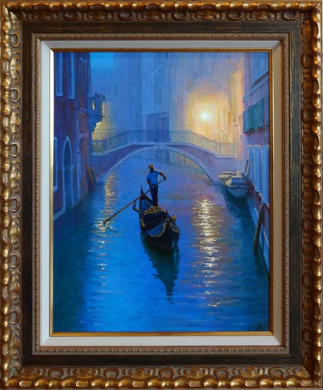 Venice Evening - Painting by Victoria Bondarenko