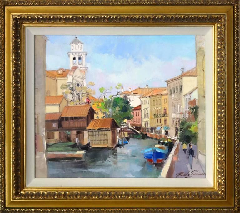 Venise l'Eglise San Trovaso - Painting by Richard de Premare