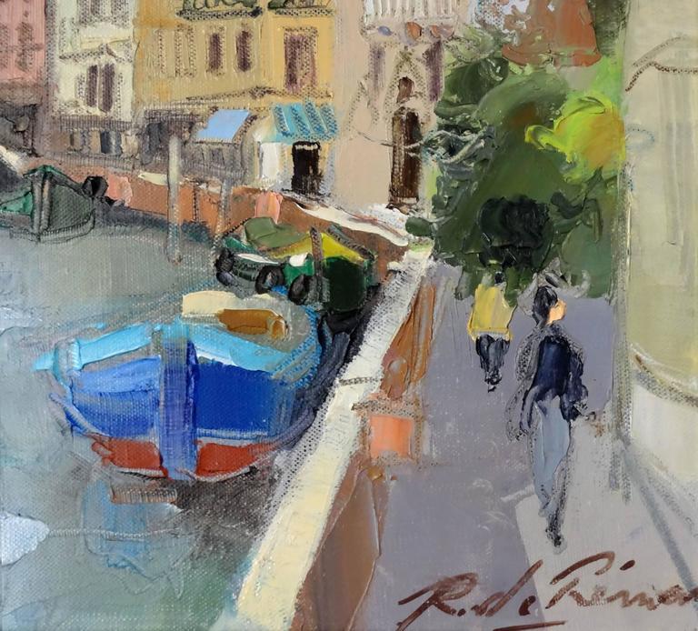 Venise l'Eglise San Trovaso - Impressionist Painting by Richard de Premare