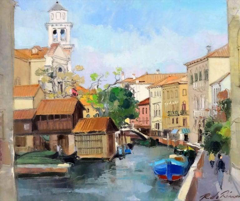 Richard de Premare Landscape Painting - Venise l'Eglise San Trovaso