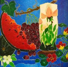 La Vase a la Rose Daum et Capucines