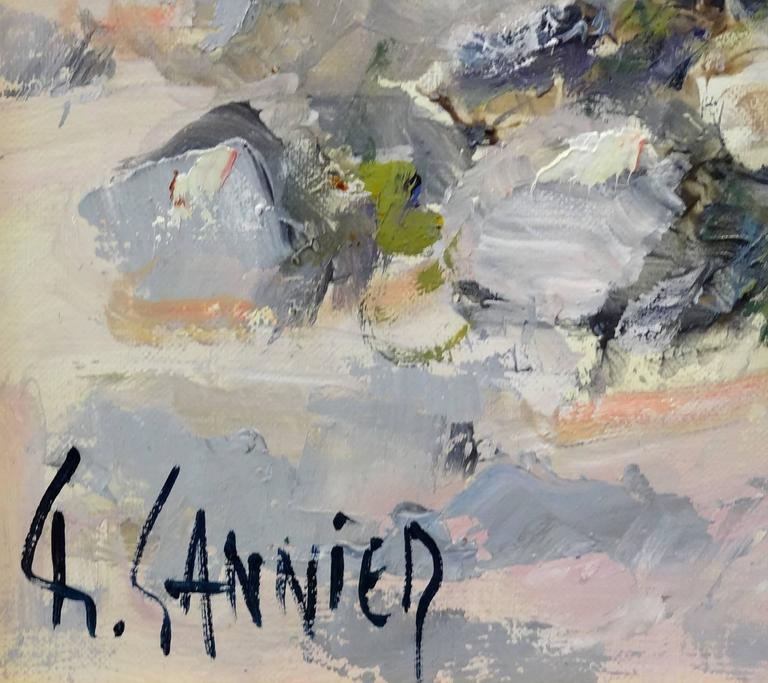 Cabanon dans les Lavandes - Impressionist Painting by Daniel Sannier