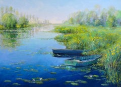 Iris dans le Grand Etang (Irises in the Big Pond)