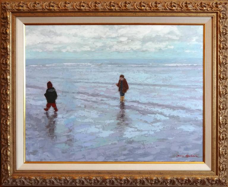Marrée Basse (Low Tide) - Painting by James MacKeown